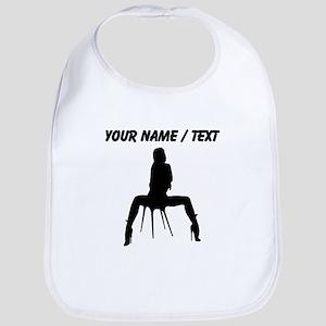 Custom Sexy Woman On Chair Silhouette Bib