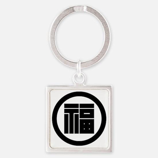 Square kanji character for FUKU in circle Square K