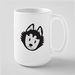 Cute Husky dog face Mugs