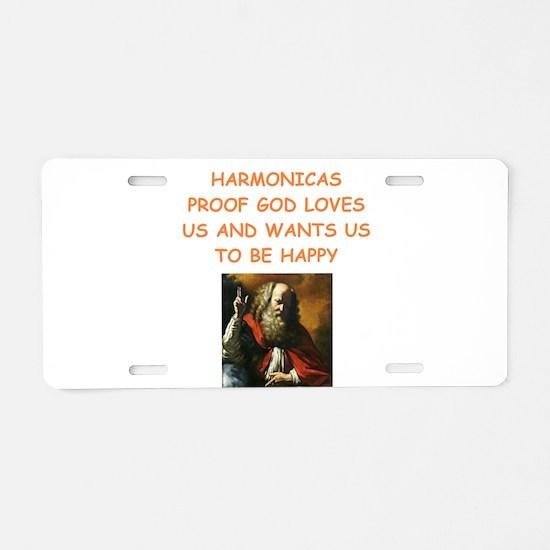 harmonica Aluminum License Plate