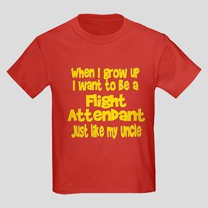 WIGU Flight Attendant Uncle Kids Dark T-Shirt