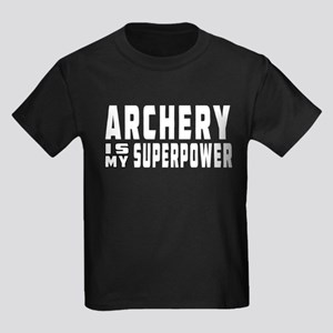 Archery Is My Superpower Kids Dark T-Shirt