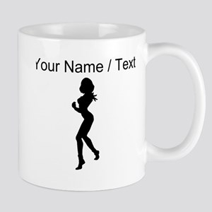 Custom Woman Boxer Silhouette Mugs