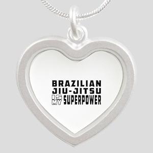 Brazilian Jiu-Jitsu Is My Superpower Silver Heart