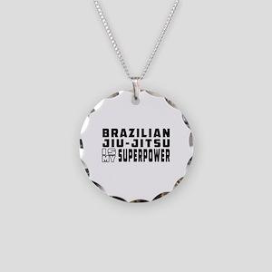 Brazilian Jiu-Jitsu Is My Superpower Necklace Circ
