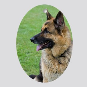 German Shepherd Profile Ornament (Oval)