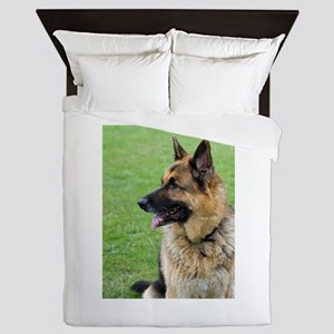 German Shepherd Profile Queen Duvet