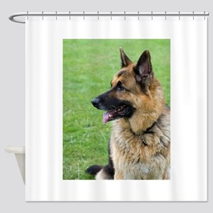 German Shepherd Profile Shower Curtain