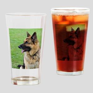 German Shepherd Profile Drinking Glass