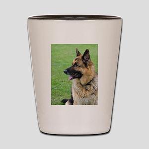 German Shepherd Profile Shot Glass