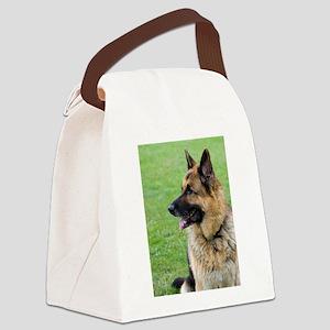 German Shepherd Profile Canvas Lunch Bag