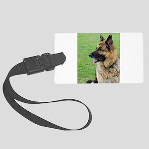 German Shepherd Profile Luggage Tag