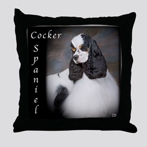 Cocker Spaniel-Parti Throw Pillow