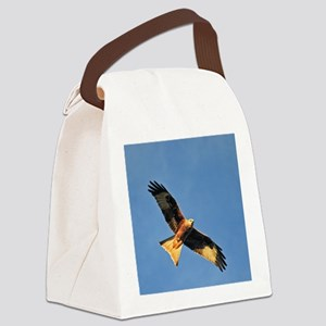 Flying Red Kite Canvas Lunch Bag