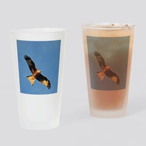 Flying Red Kite Drinking Glass