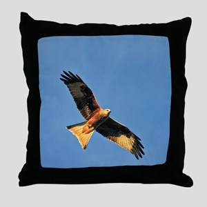 Flying Red Kite Throw Pillow