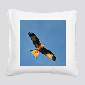 Flying Red Kite Square Canvas Pillow