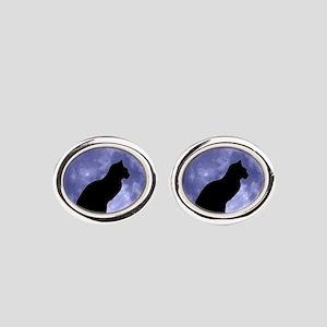 Black Cat, Blue Moon Cufflinks