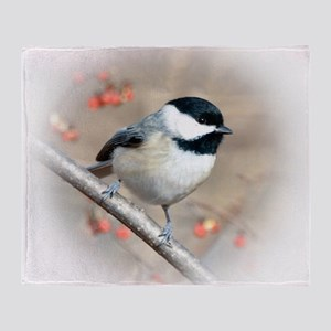 Carolina Chickadee Throw Blanket