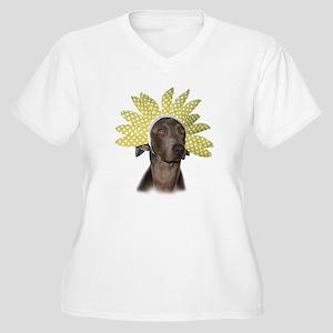 Flower Girl Women's Plus Size V-Neck T-Shirt