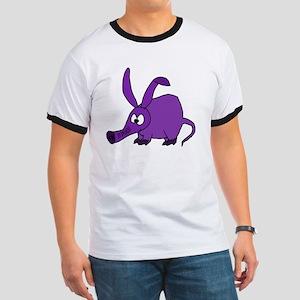 Cute Purple Aardvark Ringer T