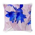 Fairy flowers Woven Throw Pillow