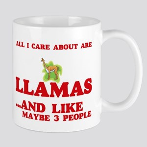 All I care about are Llamas Mugs