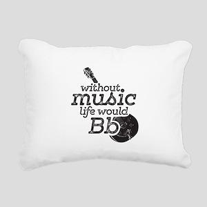 Be Flat Rectangular Canvas Pillow