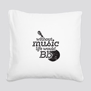 Be Flat Square Canvas Pillow