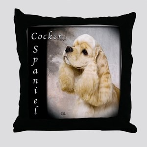Cocker Spaniel-Buff Throw Pillow