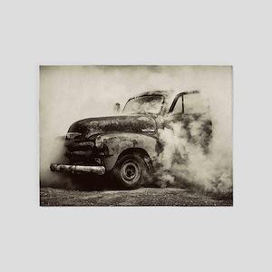 Burnout Pit Truck 5'x7'Area Rug