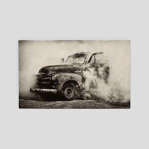 Burnout Pit Truck Area Rug
