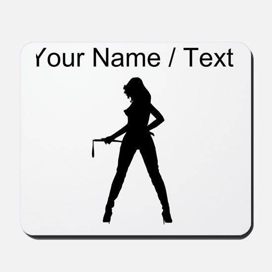 Custom Dominatrix Silhouette Mousepad