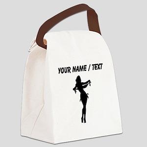 Custom Silk Dancer Silhouette Canvas Lunch Bag