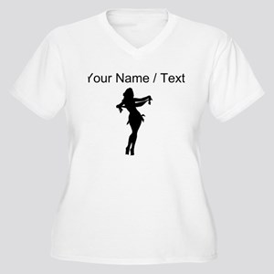 Custom Silk Dancer Silhouette Plus Size T-Shirt