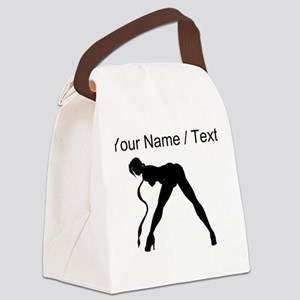 Custom Exotic Dancer Silhouette Canvas Lunch Bag
