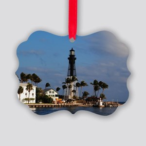 Hillsboro Lighthouse Picture Ornament