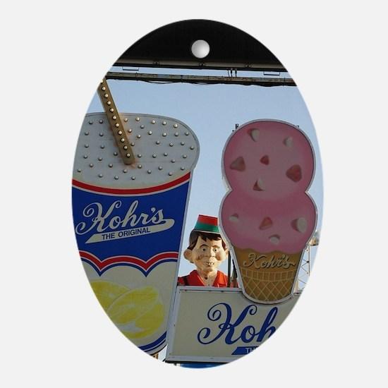 Kohr's Ice Cream Oval Ornament
