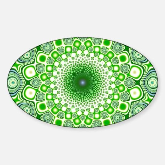 Funky Lime Sticker (Oval)