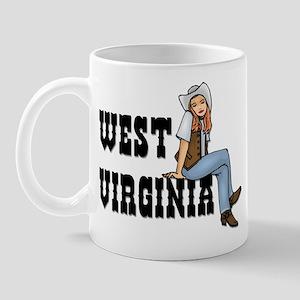 WV Cowgirl Mug
