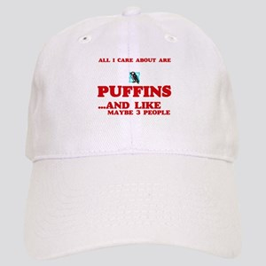 All I care about are Puffins Cap
