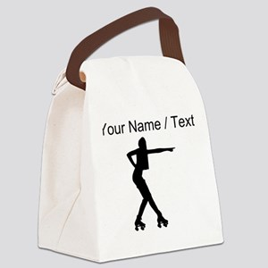 Custom Roller Derby Silhouette Canvas Lunch Bag