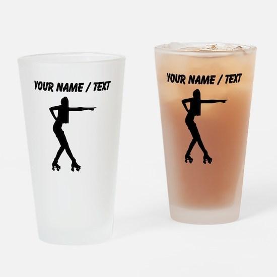 Custom Roller Derby Silhouette Drinking Glass