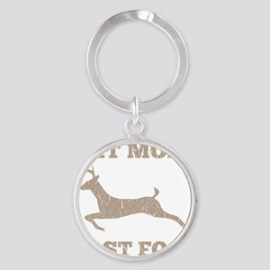 Eat More Fast Food Hunting Humor Round Keychain