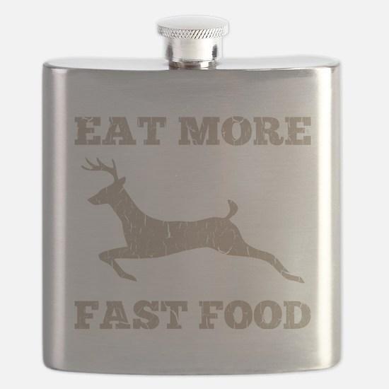 Eat More Fast Food Hunting Humor Flask