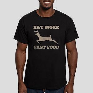 Eat More Fast Food Hun Men's Fitted T-Shirt (dark)