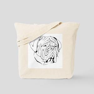 Bordeaux head design 1 Tote Bag