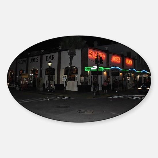Sloppy Joe's Key West Sticker (Oval)