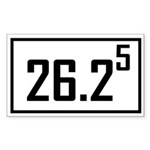 Marathon 5 Rectangle Sticker