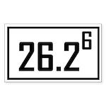 Marathon 6 Rectangle Sticker